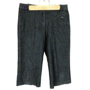 (Q3-06) Larry Levine Sz 8 Black Capri Pants